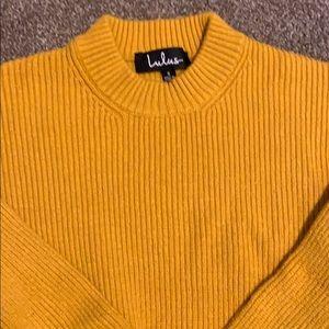Lulus cropped mustard sweater !